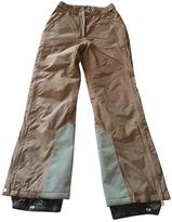 Prada Camel Polyester Trousers