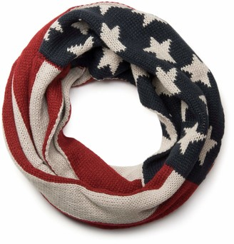styleBREAKER knitting loop tube scarf snood in USA inspired stars and stripes design unisex 01018133