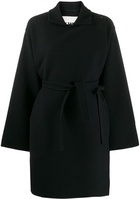 Jil Sander Belted Double Breasted Coat