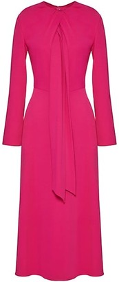 Valentino Scarf Crepe Midi Dress