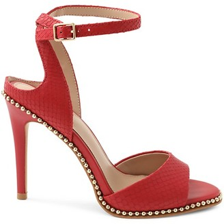 BCBGeneration Jaxina Peep-Toe Leather Sandals
