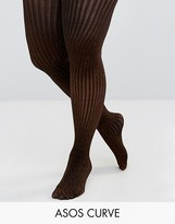 Asos Bronze Rib Lurex Tights
