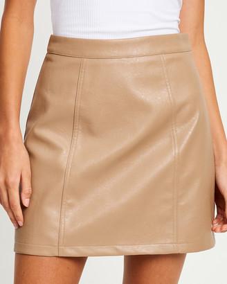 Calli - Women's Neutrals Mini skirts - Austin Mini Skirt - Size One Size, 14 at The Iconic
