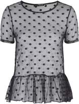 Jane Norman Spot Mesh Top