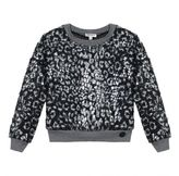 Kenzo Girls Faux-Fur Print Sweatshirt