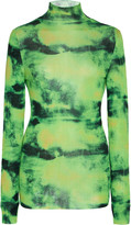 Versace Tie-Dyed Silk Turtleneck Top