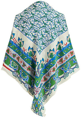 One Kings Lane Vintage Hermes Silk Chiffon Shawl - Vintage Lux