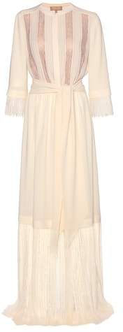 Michael Kors Lace-trimmed silk dress