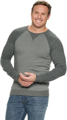 Sonoma Mens Classic Fit Crewneck Pullover Sweater Big Tall Striped Grey