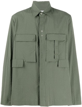 Craig Green Cargo-Pocket Seersucker Shirt