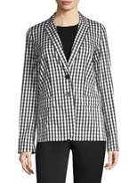 Lafayette 148 New York Vangie Checkered-Print Blazer