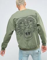 Honour Hnr Ldn Tiger Back Print Sweater