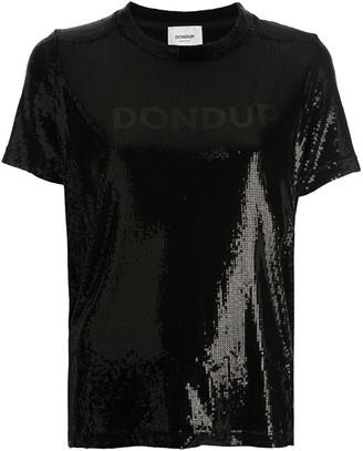 Dondup logo sequin T-shirt