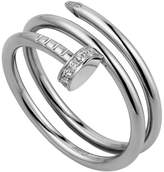 Cartier White Gold and Diamond Double Juste un Clou Ring