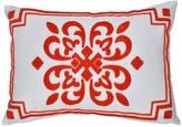 A&B Home 14 x 20 Garnet Red Crest Embroidered Pillow