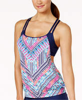 Jag Chevron-Print Cross-Back Tankini Top