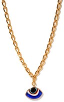 Thumbnail for your product : Tohum Evil Eye 24kt Gold-plated Pendant Necklace - Blue Gold
