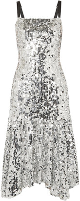 Dolce & Gabbana Asymmetric Sequined Tulle Dress