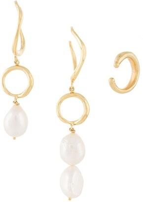 Joanna Laura Constantine Feminine Waves earrings set