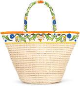Dolce & Gabbana Majolica print beach bag