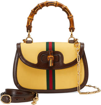 Gucci Bamboo Classic Fabric Top Handle Bag