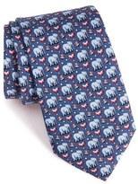 Vineyard Vines 'Elephants' Print Silk Tie