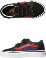 Vans Kids Old Skool V Checkerboard Shoe Black
