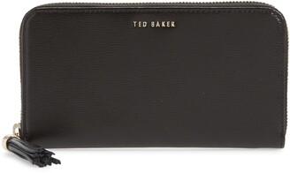 Ted Baker Tassel Leather Zip Matinee Wallet