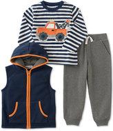 Kids Headquarters Little Boys' 3-Pc. Vest, T-Shirt, & Pants Set