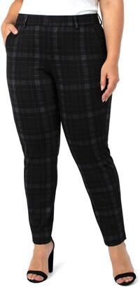 Liverpool Kelsey Black Watch Tartan Knit Trousers