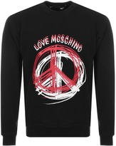 Love Moschino Peace Sweatshirt Black