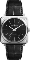 Tissot BRS92-BLC-ST/SCR steel and leather watch