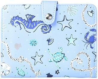 Vera Bradley Iconic Passport Wallet (Seahorse Of Course) Bags