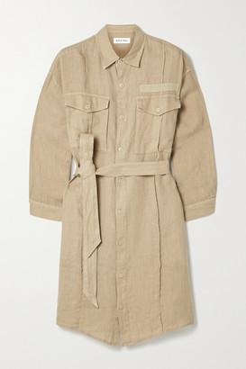 Alex Mill Keeper Belted Linen Mini Shirt Dress - Sand