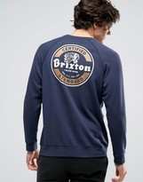 Brixton Soto Sweatshirt With Logo Back Print