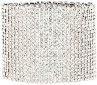Magda Butrym Godetia 24kt gold-plated crystal cuff bracelet