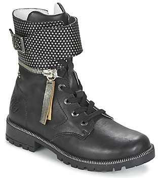 Ikks PEGGY girls's Mid Boots in Black