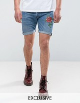 Reclaimed Vintage Revived Levis Shorts With Rose Print