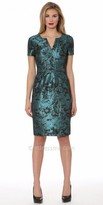 NUE by Shani Two Tone Foiled Dress