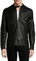 Vivienne Westwood Leather Zip Racer Jacket