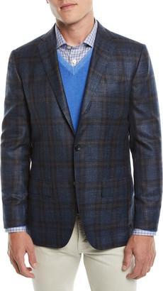 Kiton Men's Plaid Cashmere-Blend Sport Coat