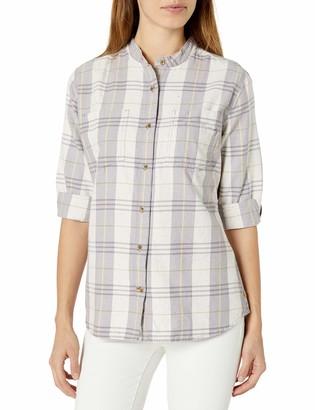 Carhartt Women's Regular Relaxed Fit 3/4 Sleeve Plaid Shirt
