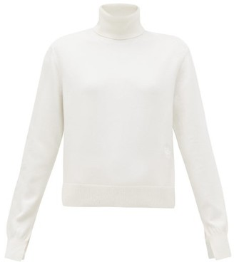 Chloé Iconic Roll-neck Cashmere-blend Sweater - Womens - Ivory