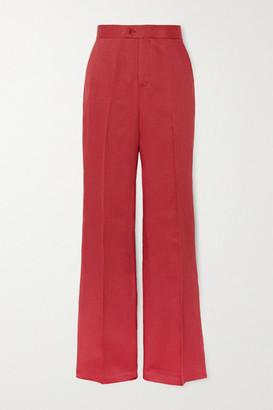 Altuzarra Higbie Linen Straight-leg Pants - Pink