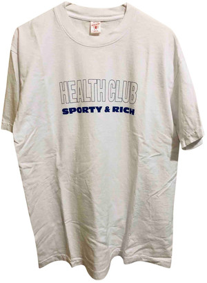 Sporty & Rich White Cotton Tops