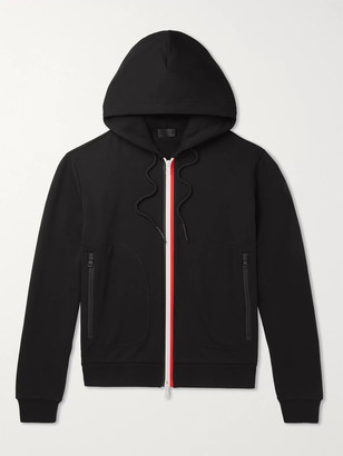 Moncler Striped Loopback Cotton-Jersey Zip-Up Hoodie