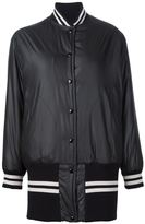 MM6 MAISON MARGIELA striped detailing long bomber - women - Polyester - 42