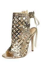 Marchesa Leather Gold Shoe