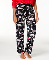 Hue Printed Knit Pajama Pants with Back Pocket