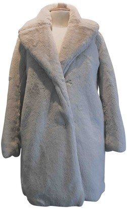 Comptoir des Cotonniers Ecru Faux fur Coat for Women